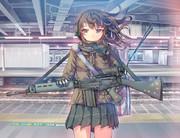 武装女子高生。