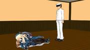 提督のハートは掴めない(愛宕) 胸を提督の顔に押し付ける