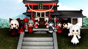 【東方MMD】堕妖博麗神社にお参りしろヨー