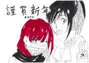 【進撃&マギ】2013年賀状【サシャ&モル】