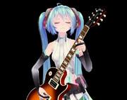 エレキギターとTda式アペミクさん
