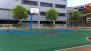 ストリートバスケ用ケージ(ハーフコート)