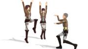 【MMDポーズ配布アリ】 サシャとコニーの訓練時のポーズ 【進撃の巨人】