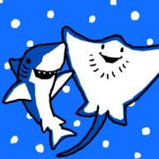 ちいサメとエイさん