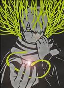 【切り絵】 蟲師「柔らかい角」 ギンコ