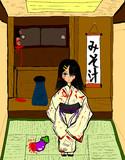 和室と少女