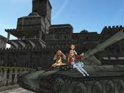 74式戦車と城下町