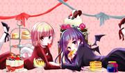 七海と罪木とお菓子とピンク