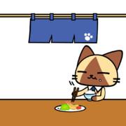 孤独のグルメなネコ