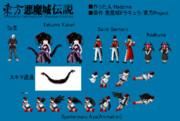 東方悪魔城伝説ドット絵まとめ Part 14と15