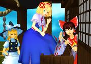アリスと魔理沙の初詣