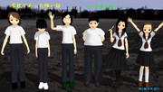 PMCAで学怖語り部6人モデルを作ってみた