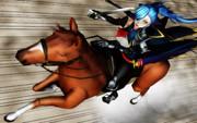 芙蓉アオイさんと馬