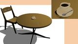 【MMD】テーブルセットとコーヒーカップ
