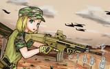 アメリカ陸軍系女子