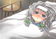 熱っぽい咲夜さんをベッドに寝かせた