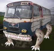 【写真改造】ひとくいバスが あらわれた!