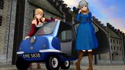 【MMD】イト姫さまとクシーで「PEEL P50は一人乗り」【イト姫祭り】
