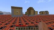TNTバイオームに生成された村