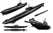 MMD用モブ潜水艦1945セット