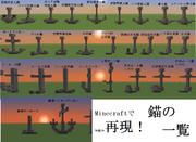【minecraft】錨の一覧【再現】