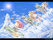 雲から飛び出す妖精さん