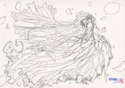 原点回帰でベルダンディー(第9種紫宝級礼装)(線画)
