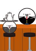 とあるカフェテリアのマスターと執事を(・ω・)にしてみた