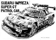 スバル インプレッサ スーパーGT パトロールカー