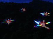 折り畳み式可変翼戦闘機フランドール4機編成