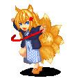 ドットで紅床の九尾狐