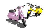 【MMD】アルファさんとココネさんのバイク