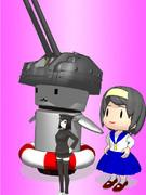 【MMD艦これ】46cm連装高角砲さん&妖精さん【モデル配布】