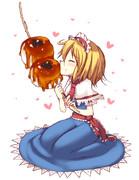 食いしん坊アリスちゃんと巨大みたらし団子