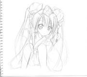 【チェンクロ】ツル姫さまをあずにゃん風?に描いて見た!
