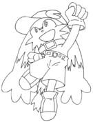 風のクロノア(線画)
