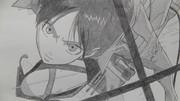 【シャーペン】進撃の巨人OP・ラストシーン(エレン)