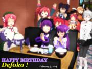 【デフォ誕2014】 誕生日こめでとう