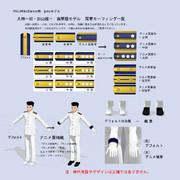 【MMDサクラ大戦】大神一郎・加山雄一海軍服モデルのモーフ説明1