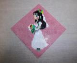 「花嫁」ブライダルプレート:ミニハマビーズにて