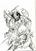 筆絵「鍾馗の鬼図」気楽書き