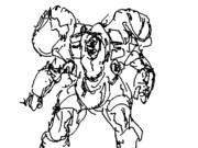 戦闘シーンのアニメーション(スロー再生)