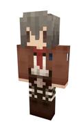 【Minecraft】ミカサスキン【進撃の巨人】