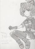 ハナヨ(ガンダムマイスター874) シャーペンで描いてみた