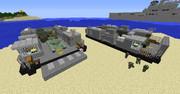 【minecraft】LCACによる車両揚陸訓練の様子