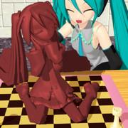 チョコレートのミクさんがHappy Valentine's Day!
