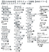 【第12回MMD杯本選・予選】手作りチョコ争奪戦【MMDドラマ】クレジット