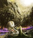 混沌の沼地に足を踏み入れる一角獣