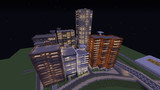 【Minecraft】マンション街の夜景