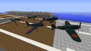 【minecraft】零戦六三型・五二型・紫電・紫電改【配布アリ】